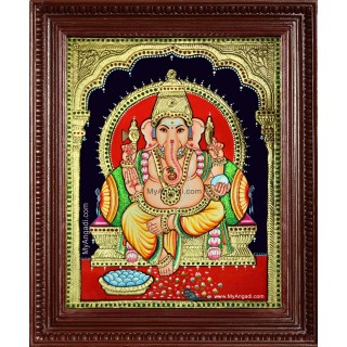 Shree Ganesha Tanjore Painting