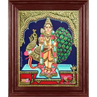 Mayil Murugan Tanjore Painting