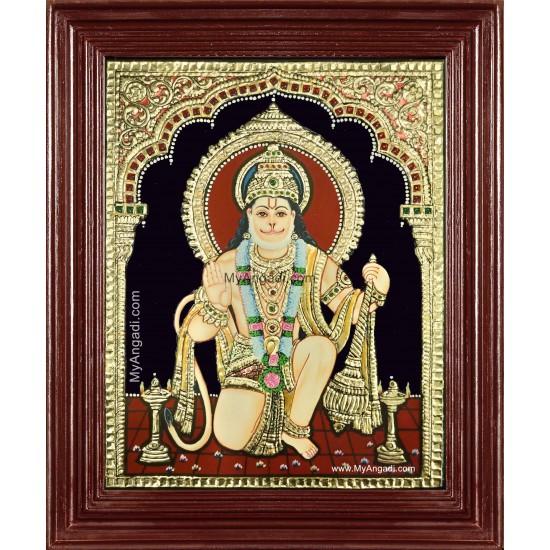 Lord Anchaneya Tanjore Painting