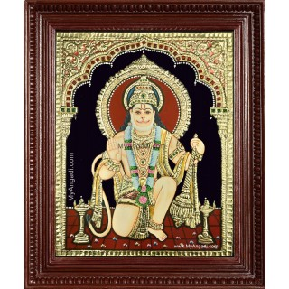 Lord Anchaneya Tanjore Painting