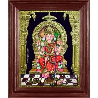 Goddess Lalitha Devi Thanjavur Painting
