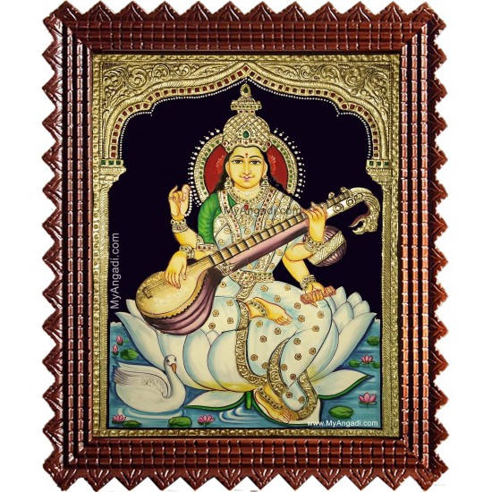 Kalaimagal Saraswathi Tanjore Painting