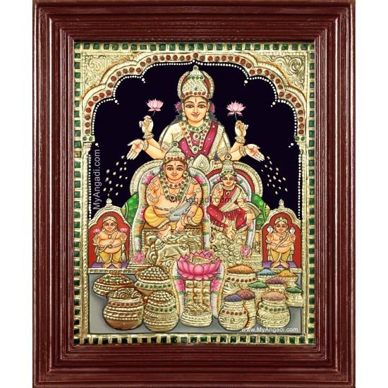 Kubera Lakshmi Tanjore Painting