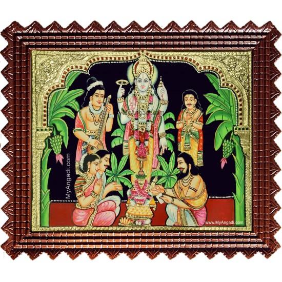 Sathyanarayana Swami Tanjore Painting