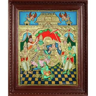 Shri Rama Pattabishekam Tanjore Painting