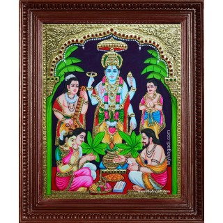 Sri Satyanarayana Swamy Tanjore Painting