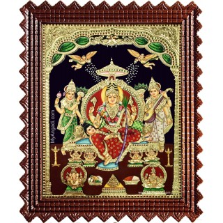 Sri Lalitha Tripura Sundarai Tanjore Painting