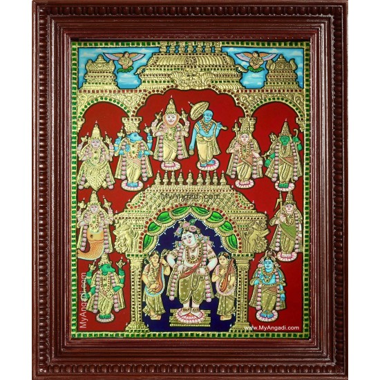 Krishna Dasavatharam Tanjore Painting