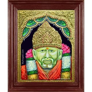 Shridi Sai Baba Tanjore Painting