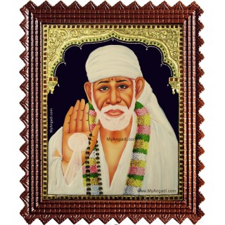 Sridi Saibaba Tanjore Painting
