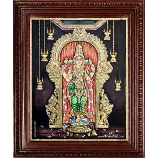 Madurai Meenakshi Amman Tanjore Painting