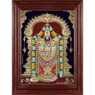 Lord Tirumalai Srinivasan Tanjore Painting