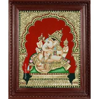 Sri Ganesha Tanjore Painting