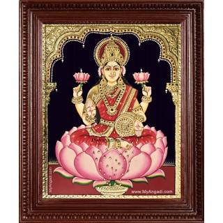 Goddess Maha Lakshmi Tanjore Painting