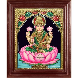 Goddess Maha Laxmi Tanjore Painting