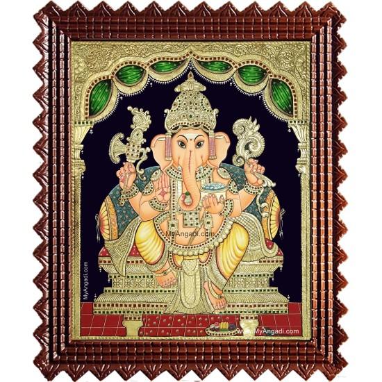 Shri Ganesha Tanjore Painting