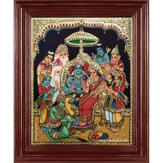 Sri Ramar Pattabishekam Tanjore Painting