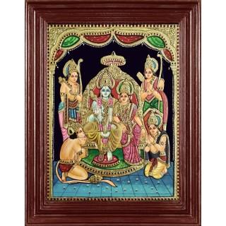 Sri Ramar Durbar Tanjore Painting