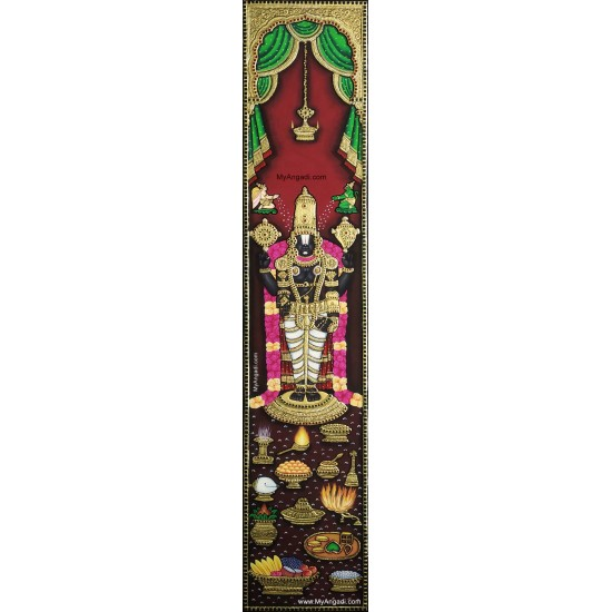Lord Balaji Vertical Szie Tanjore Painting