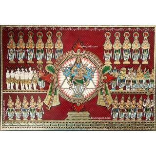 Sudharashana Chakra Tanjore Painting