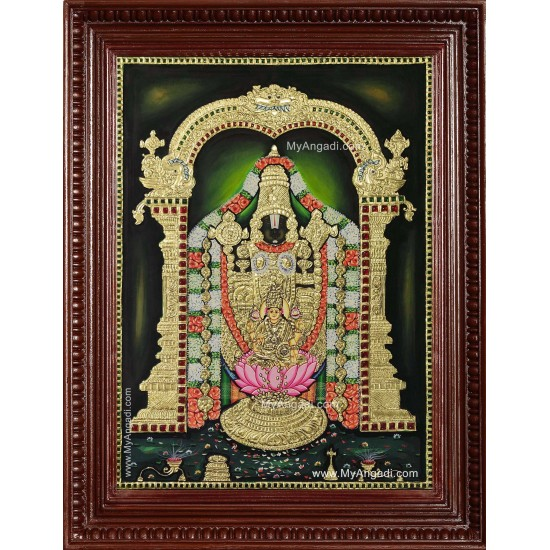 Tirupathi Perumal Lakshmi Tanjore Painting