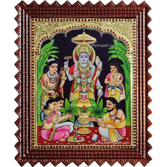 Sathya Narayana Swami Tanjore Painting