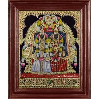 Sri Siddhammal  Sri Perumal Swami Tanjore Painting
