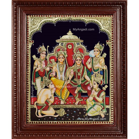 Ramar Sita Ram Durbar Tanjore Painting