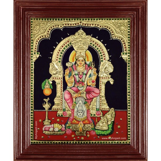 Samayapurathu Mariamman Tanjore Painting