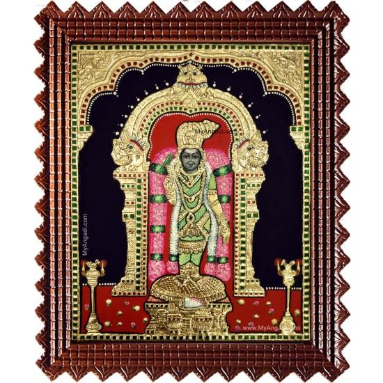 Madurai Meenatchi Amman Tanjore Painting