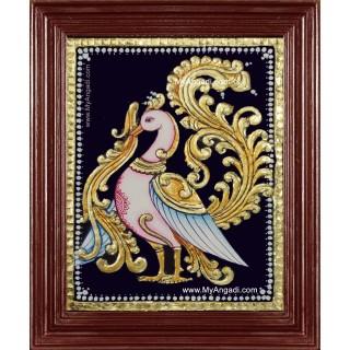 Annam Swan / Anna Pakshi Tanjore Painting
