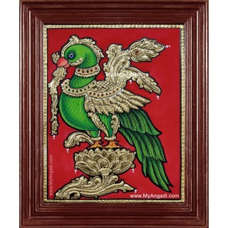 Parrot Tanjore Painting