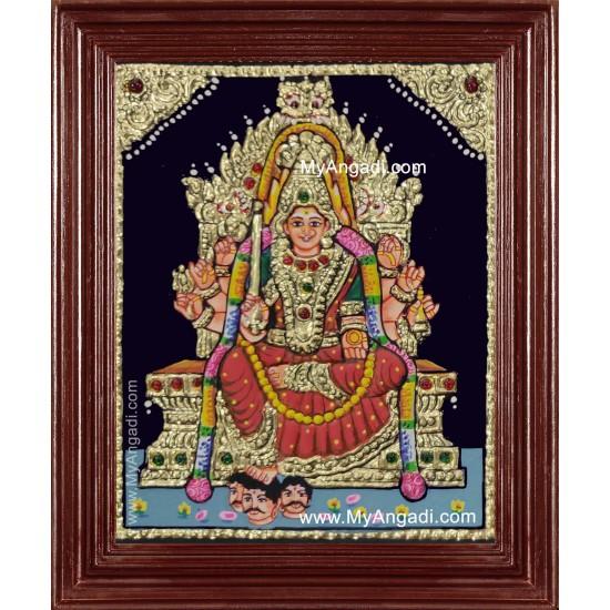 Samayapura Mariamman Tanjore Painting