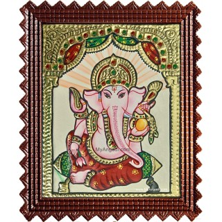 Small Ganesha Tanjore Painting