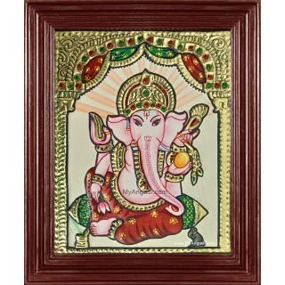 Small Ganesha Tanjore Painting