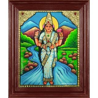 Goddess Kaveri Amman Tanjore Painting