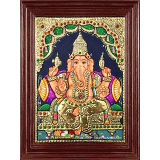 Sri Ganapathi Tanjore Painting