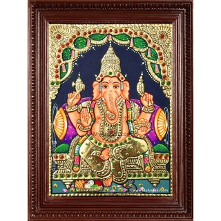 Sri Ganapathi Tanjore Painting