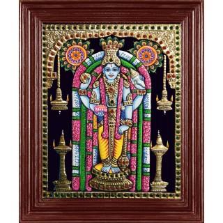 Guruvayoorappan Tanjore Painting