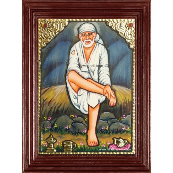 Small Size Sai Baba Tanjore Painting