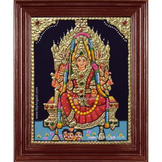 Small Size Samyapuram Mariamman Tanjore Painting