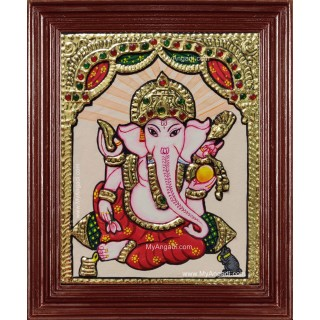 Small Size Ganesha Tanjore Painting