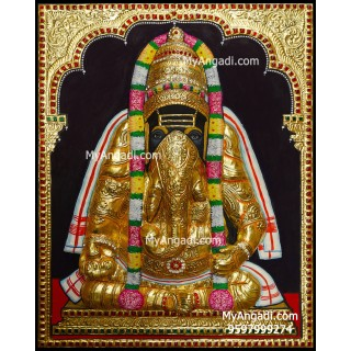Pillayarpatti Karpaga Vinayakar 3d Tanjore Painting