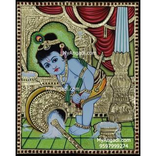 Butter Krishna Tanjore Painting