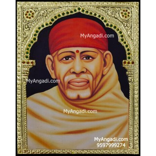 Shirdi Sai Baba Tanjore Painting, Shirdi Sai Baba Tanjore Painting