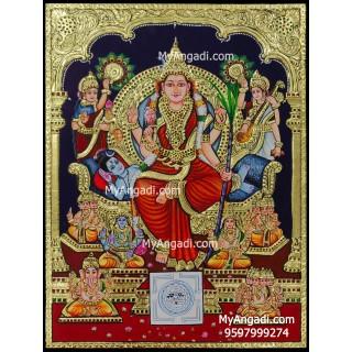 Raja Rajeswari Tanjore Painting