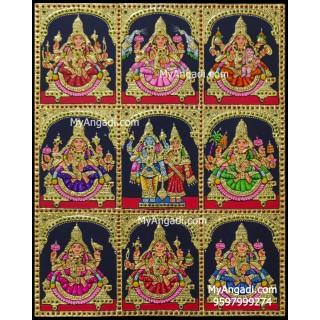 Ashtalakshmi Tanjore Painting