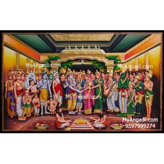 Srinivasa Kalyanam Tanjore Painting