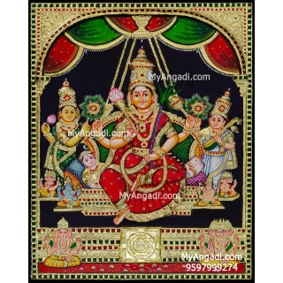 3D Raja Rajeshwari Tanjore Painting
