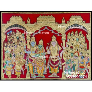 Meenakshi Thirukalyanam Tanjore Painting